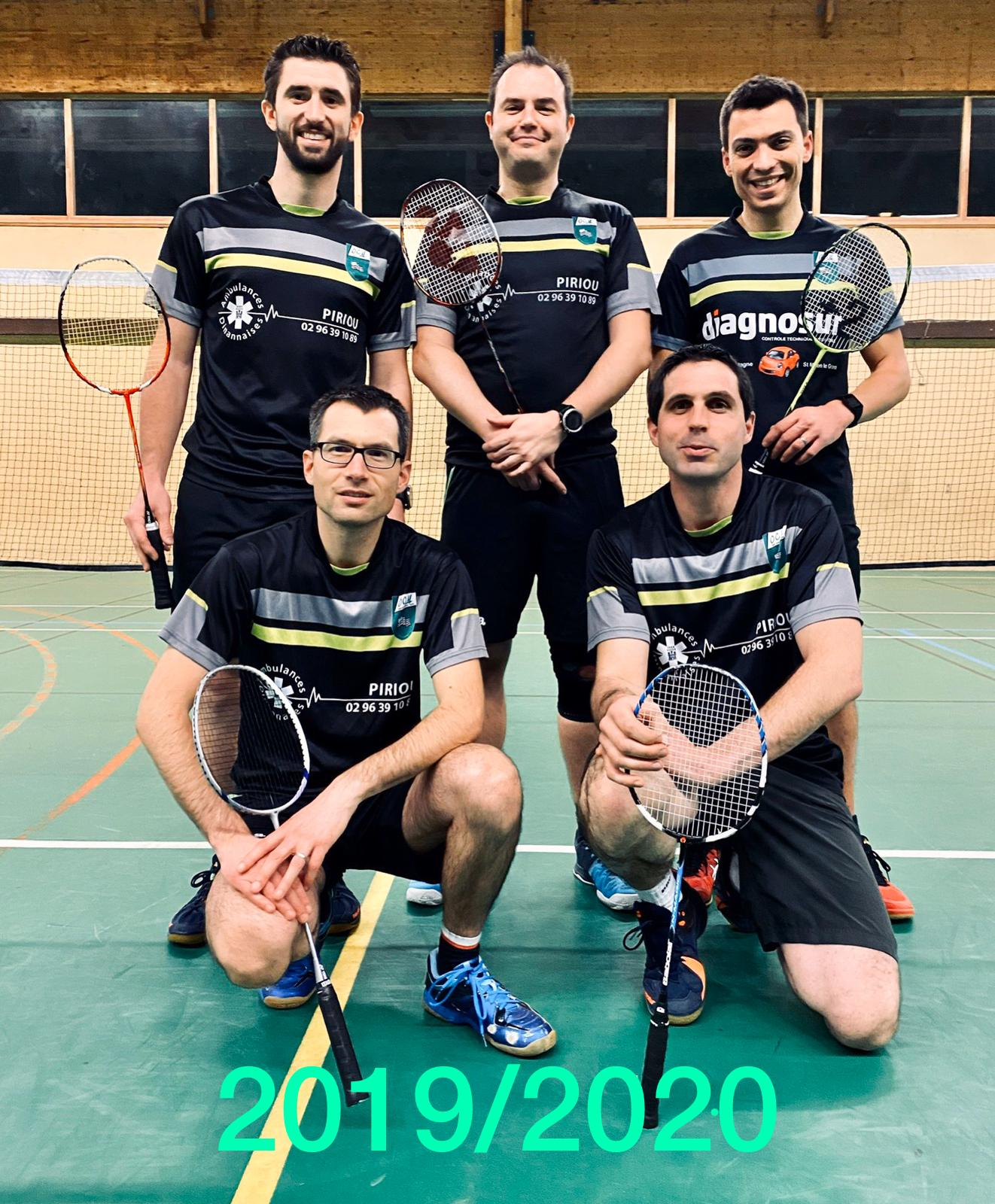 Equipe D1 Hommes 2019-2020